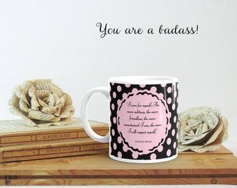 Charlotte Bronte, Literary Coffee Mug, Jane Eyre Gift, Motivational Mug, Bookish Gift, Feminist Gift, Feminist Quote, Unique Mug for Women