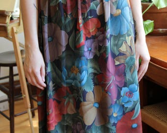 Full Floral Midi Skirt