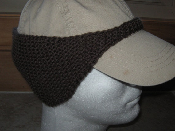 Pattern For Knitted Baseball Cap Ear Warmer Instant Download