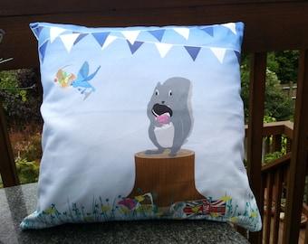 Bunting Cushion, Animals cushion, Woodland cushion, lovely deer Homeware, animal  Picnic cushion, Homeware Gift, Gift for her, Cushion Cover