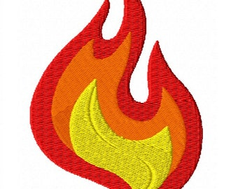 Fire Flame fill Embroidery Design file 4 sizes Instant Download