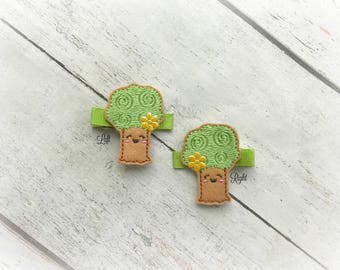 Tree hair clip Spring Hair Clip Flower Tree Hair clippie cutie  Pick one or two. Pick Left side or Right.