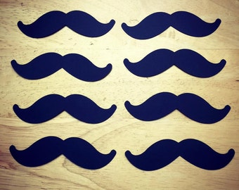 Mustache Cut Outs (Various Sizes and Colors Available)