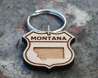 Montana State KEYCHAIN