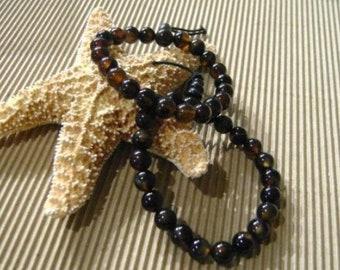 Pair Handstrung Glass Beaded Bracelets