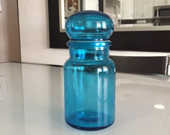 Belgium Apothecary Jar/  Belgian Apothecary Jars / Glass Container/ By Gatormom13 JUST REDUCED