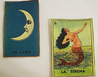 Spanish Loteria patch set retro vintage mexico pop culture sew on patch