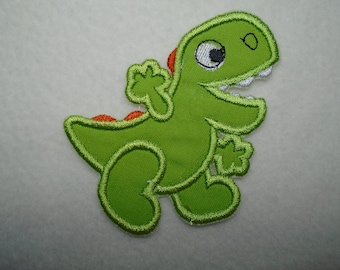 Tyrannosaurus Rex Dinosaur  embroidered iron on or sew on applique  patch