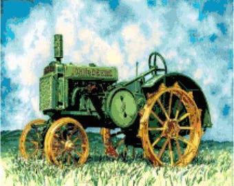 Farm Tractor Cross Stitch Chart
