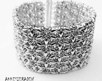 English pattern for the O-Mosaic bracelet