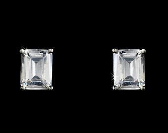 Crystal Bridal Earrings Baguette Cut Earrings Wedding Jewelry Wedding Earrings Bridal Jewelry Bridesmaid Earrings