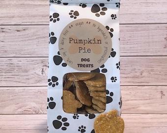 Homemade Vegan Pumpkin Pie Dog Treats - Hand Cut - 5 oz paw print bags