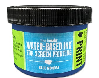 Blue Monday 7687 Merchmakr Water-Based Ink for Screen Printing