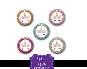 Unicorn Magnets - Unicorn Decor - Unicorn Decor Magnet - Fridge Magnet - Fridge Magnets - Unicorn Gift - Unicorn Magnet -