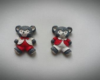 Set of 2 magnets magnets bear costume