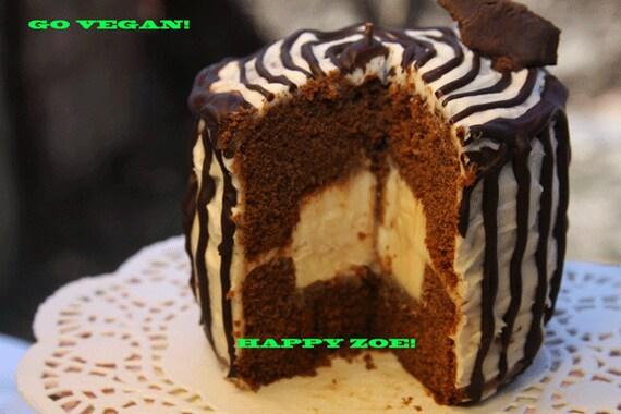 Vegan Gluten Free Mini Magic Chocolate Loving Birdie Hut Vanilla  cake, Natural and Healthy ingredients,Love,Birthday,Wedding.