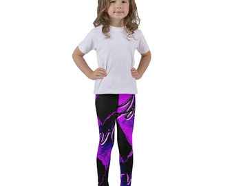 Kid's leggings giant hearts with love text