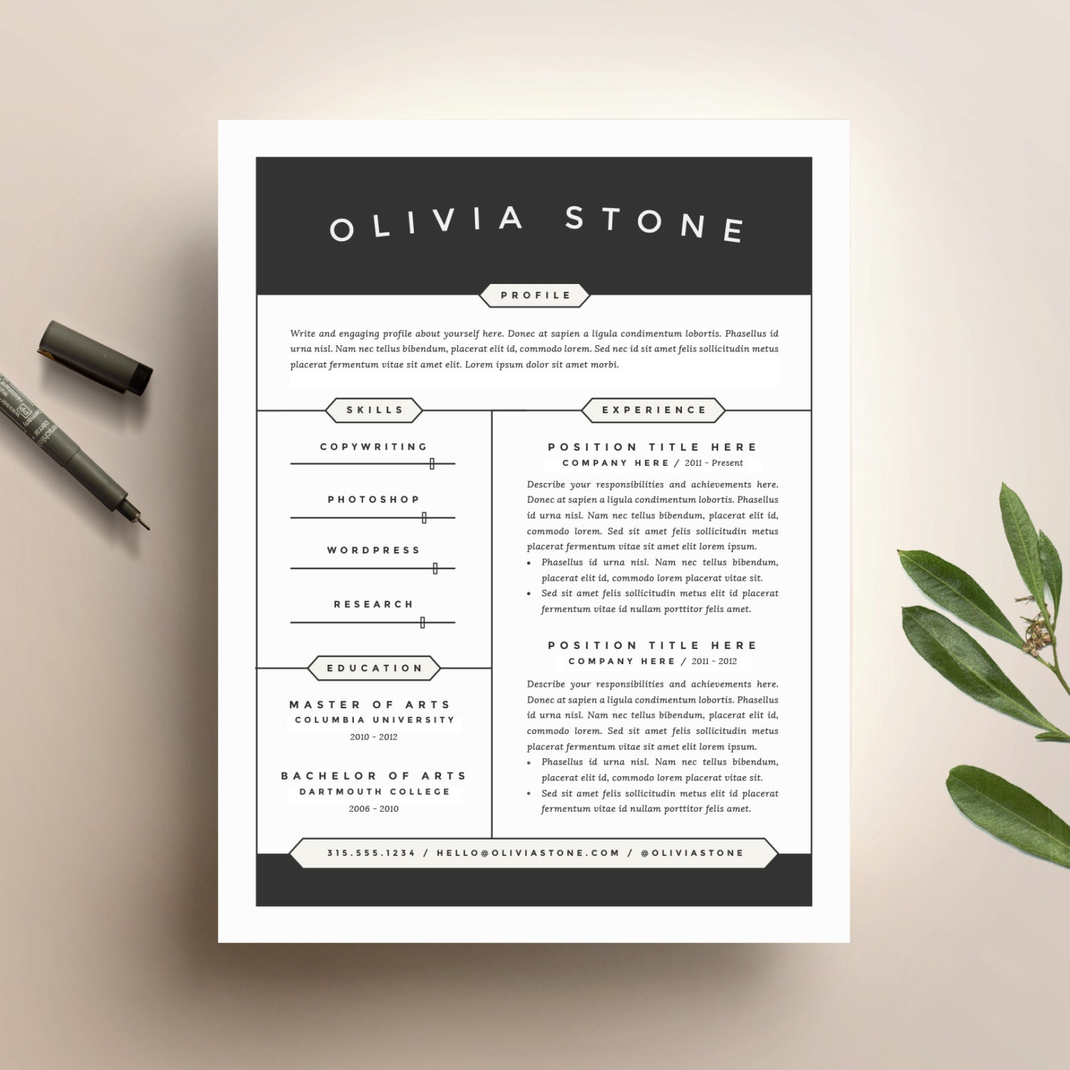 zoom - Modern Cover Letter Template