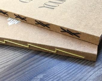 Kraft Cover Handmade Notebooks -Set of 2