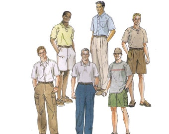 McCall's 2075, 90s sewing pattern, size 36 men's pants and shorts pattern, summer shorts pleated