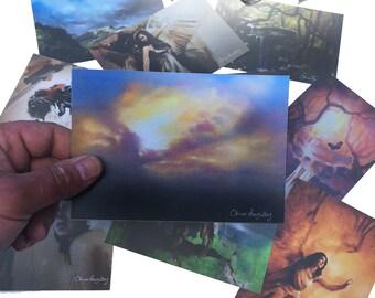 Cartes postales - pack de dix cartes A6 différentes.