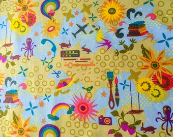 Favorites in Sunny From Remix and Clover Sunshine by Alison Glass for Andover Fabrics