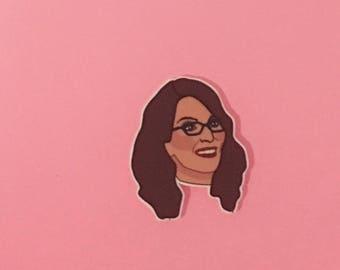 Tina Fey Pin [brooch lapel pin 30 rock]