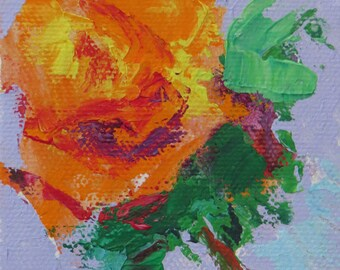 Orange Fiesta is a 3x3 Original Acrylic Painting