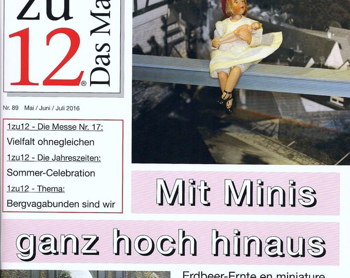 89-1zu12 The magazine, the Journal for Miniatures and Doll houses, No. 89 May/June/July 2016, invitation to the Herbsreigen