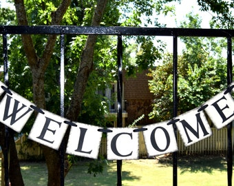 WELCOME Wedding Banner - Party Decoration - Welcome Banner  Photo - Prop