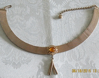 REDUCED PRICE - Vintage Mesh Choker Necklace