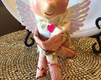 Vintage Inspired Cupid Doll