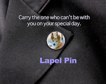 Custom Lapel Pin,  Silver Pin, Personalized Pin, Custom Pin, Remembrance, Memorial, Pet Pin, Wedding Pin, Graduation Pin