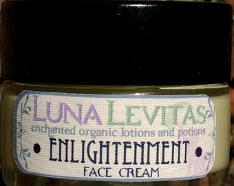 Enlightenment - Vegan Organic Cell Generating,Improved Circulation Face cream with Frankincense & Rose Geranium Essential Oils