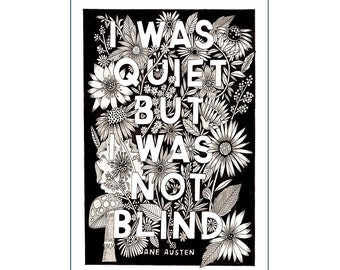 A4 Art Print | I Was Quiet | Hand Lettering