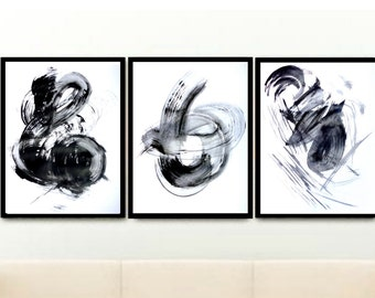 Set of 3 Prints, Abstract Art Prints, Triptych,  Instant Download, Printable Art, Abstract Wall Art, Minimalist Poster,  Wall Decor