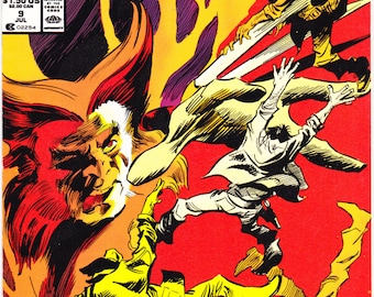 Wolverine 9, X-Men comic, Xmen book, Marvel Comics, John Buscema art, Costume, Claws, Mask. 1989 in NM+ (9.6)
