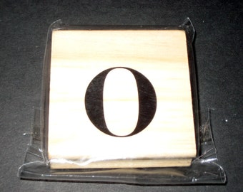 Unused Michaels Wood Mounted Rubber Stamp - Lower Case 0