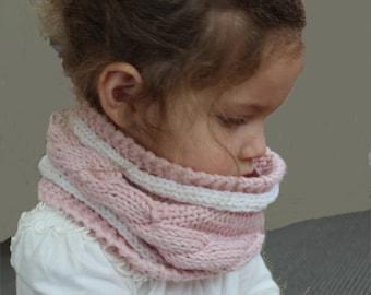 KNITTING PATTERN- Child's Cable Cowl PDF knitting pattern