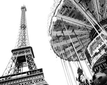 PARIS PHOTOGRAPHY - Eiffel Tower and Merry Go Round