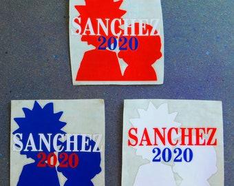 SANCHEZ 2020 Rick & Morty Fan Art Three Layer Vinyl Decal Sticker