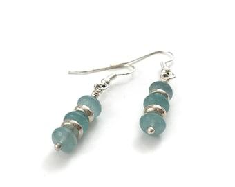 Mother's Day SALE! - Amazonite stone earrings, amazonite jewelry, blue stone earrings, blue earrings, stone earrings