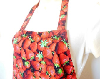 Full Apron - Strawberries