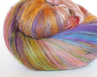 ECLIPSE 3.2 oz  Wool - Merino // Art Batt // Wool Art Batt for spinning or needle felting