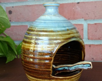 Ceramic Salt Cellar & Spoon