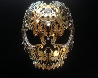 Mens Skull Mask Skull Masquerade Mask Metal Skull for Men Unique Men's Phantom Mask