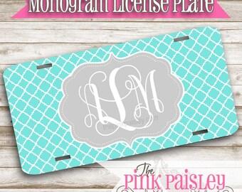 Monogram License Plate | Custom License Plate | Personalized Car Tag