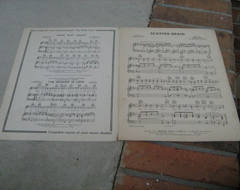 1939 sheet music (  scatter-brain  )