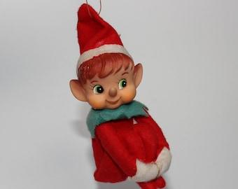 Vintage Elf Christmas Ornament