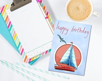 Group birthday card etsy sailboat happy birthday card happy birthday group card group happy birthday group card bookmarktalkfo Gallery
